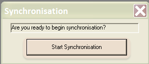 Click on Start Synchronisation