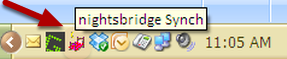 Double Click on Pink Bed in your Taskbar