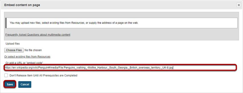 Enter a URL.