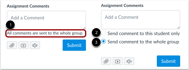 View Group Assignment Comments