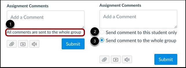 Afficher les commentaires des travaux de groupe