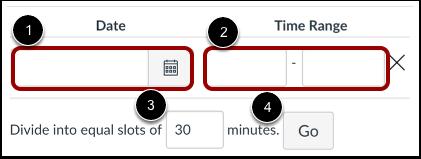 Définir l'intervalle de temps entre les rendez-vous