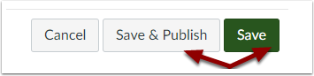 Save and Save & Publish buttons
