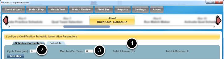 Define Tournament Level Parameters