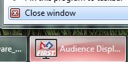 Closing Audience Display