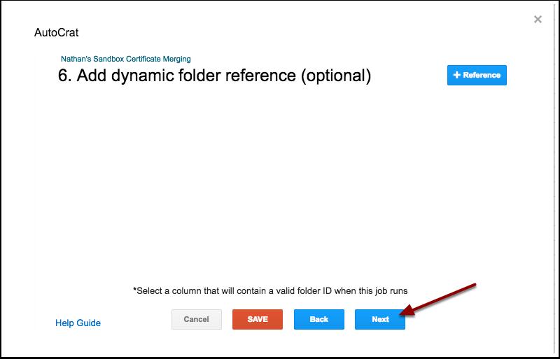 autoCrat dynamic folder reference