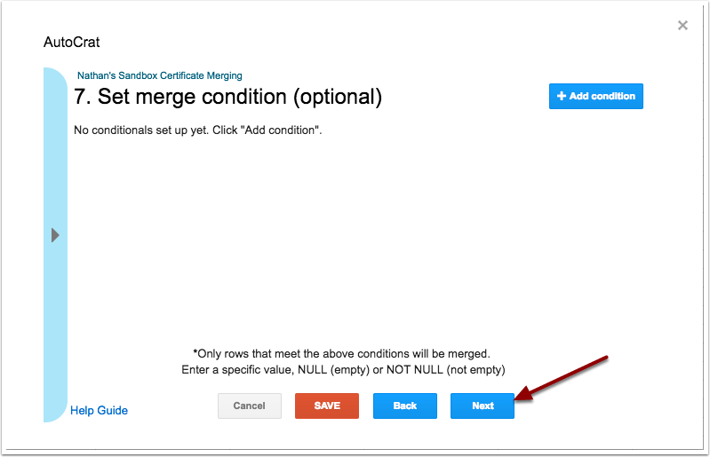 autoCrat merge condition