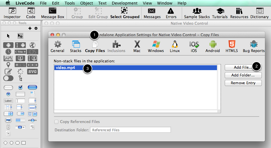 Setup your video file