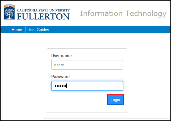 Enter your campus username and password. Then click Login.