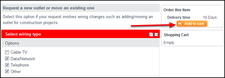 Wiring order with arrow pointing to Add to cart button on the right