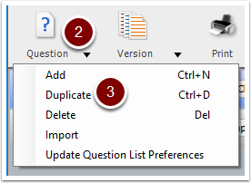 Turning Point Question List Wizard - duplicate question button