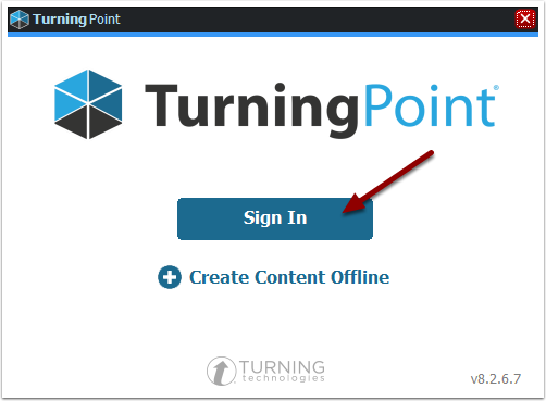 Turning Point sign in screen