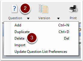 Turning Point Question List Wizard - delete question button
