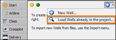 Search for wells in project database