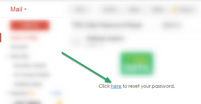 "Click ""here"" to reset!"