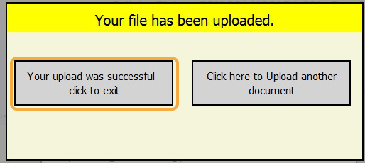 Step 3B: Upload more files or continue back to the 'Materials Management' screen