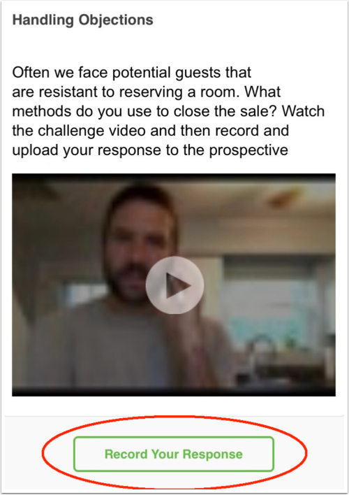 Record your response