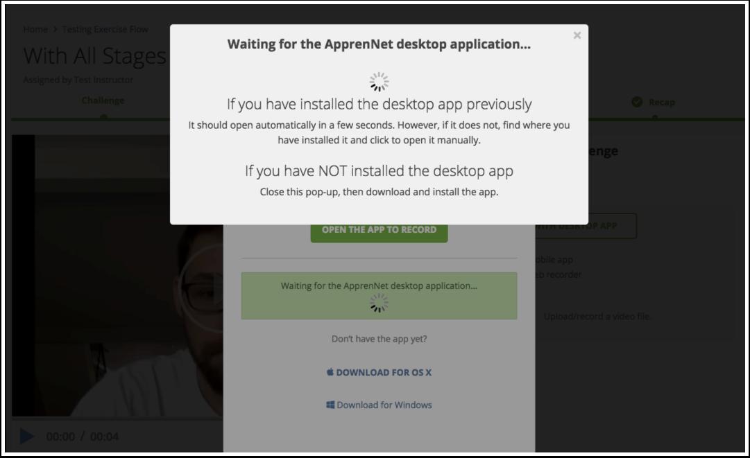 Waiting for desktop app window