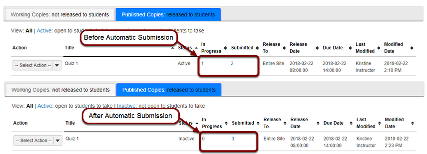 Wait for submissions to become available.