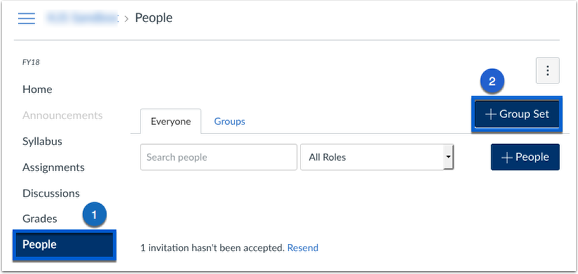 Screenshot of the People Tab, Plus Group Set
