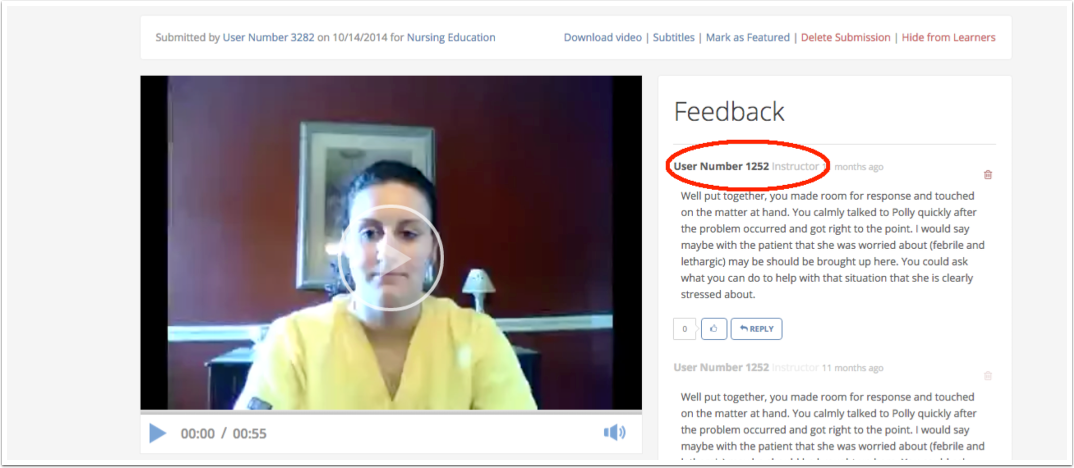 View instructor feedback