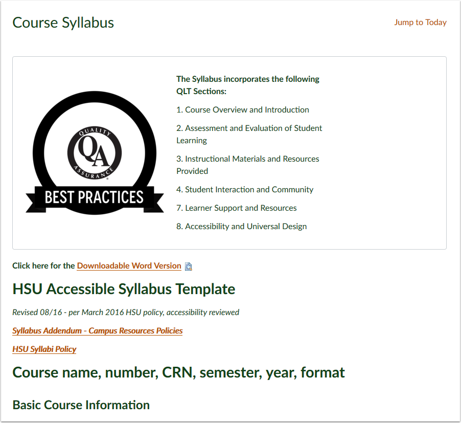 Course Syllabus as Home Page -1