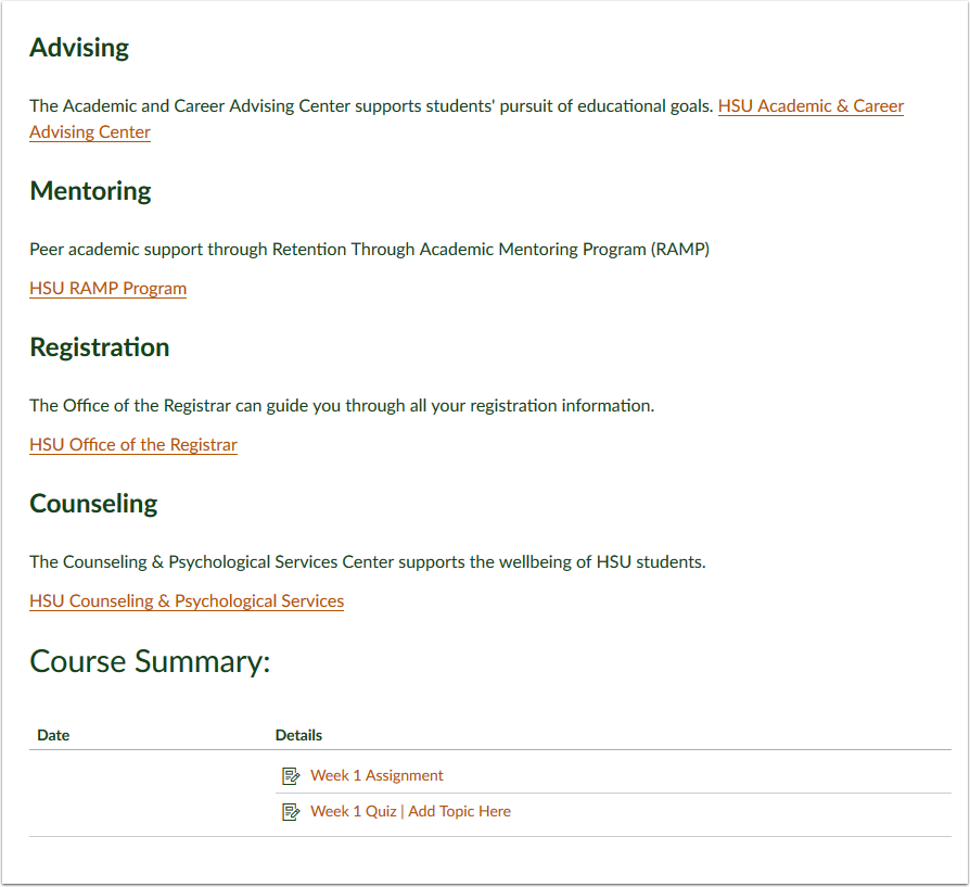 Course Syllabus as Home Page -2