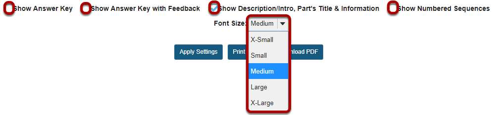 Select print options.