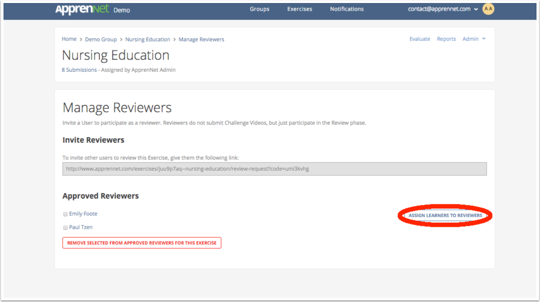 Click Assign Learners to Reviewers