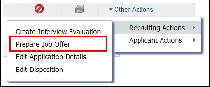 Prepare Job Offer