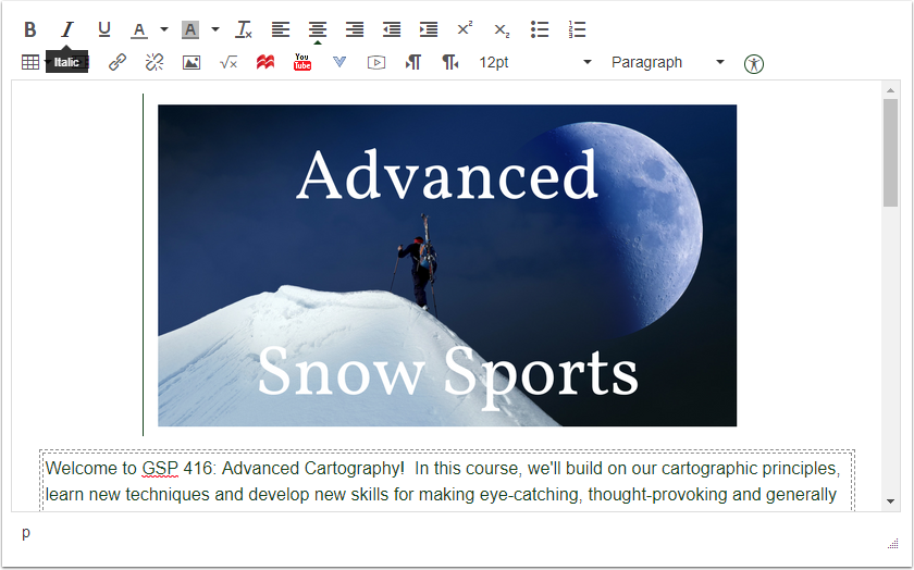 Canvas Rich Text Editor with template image replaced