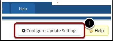 Click Configure Update Settings