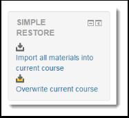 Simple Restore block