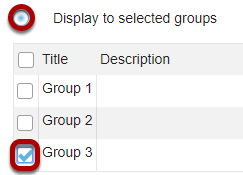 Calendar group display options