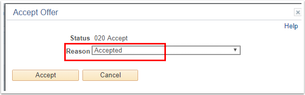 Accept Offer section