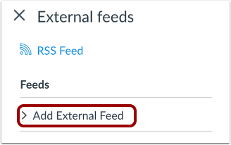Add External Feed