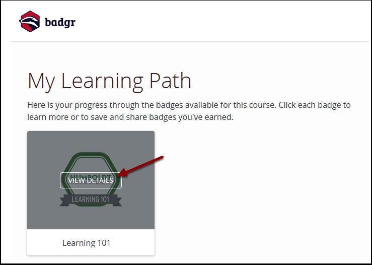Badgr - My Learning Path