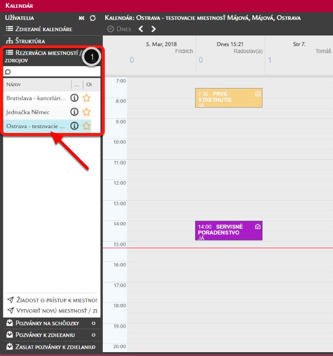 Kalendár miestnosti/zdroja