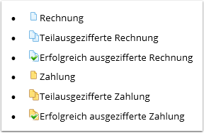 Icons in der OPOS-Liste
