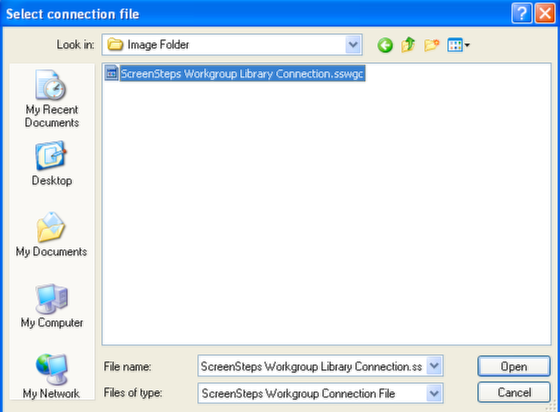 Choose Connection File