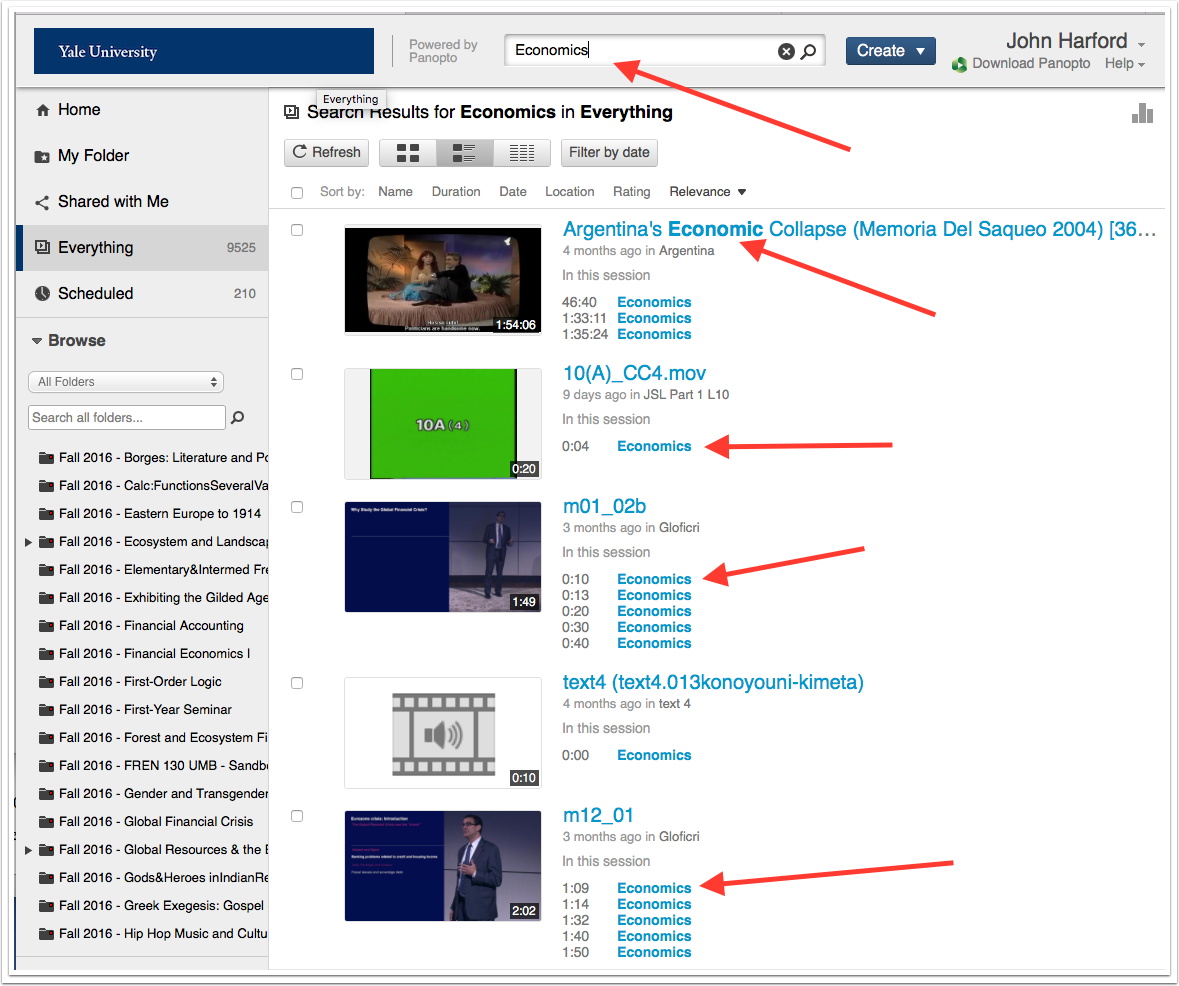 image pointint out search field and returned results