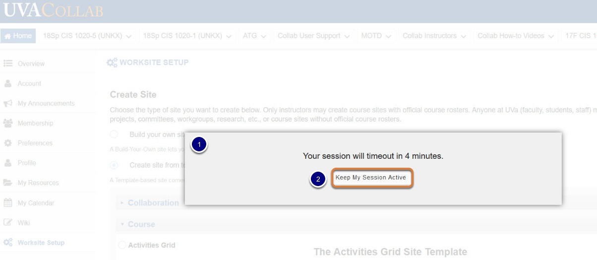 How the Idle Session Timeout Alert Works