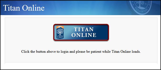Titan Online landing page