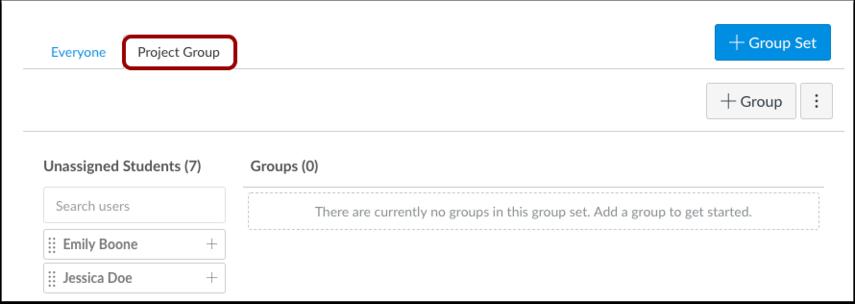 Ver conjunto de grupos