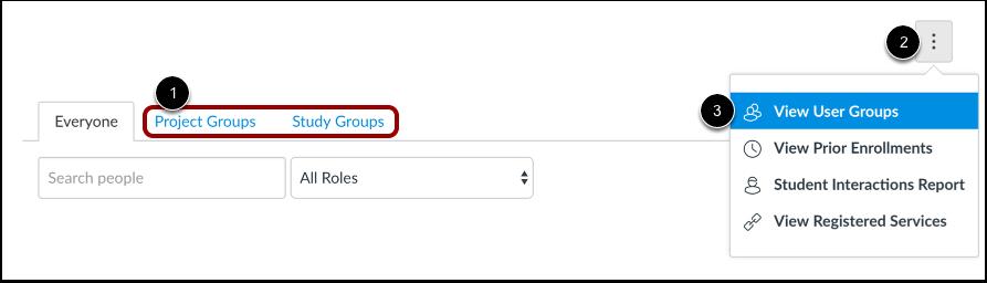 Vise brukergrupper