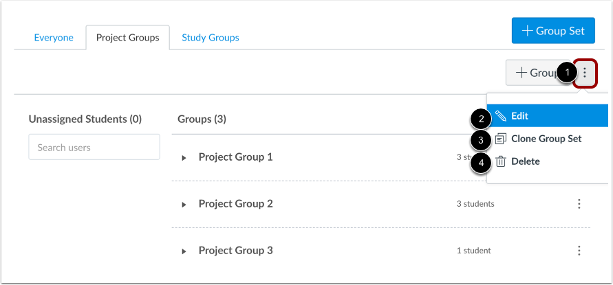 Manage Group Set