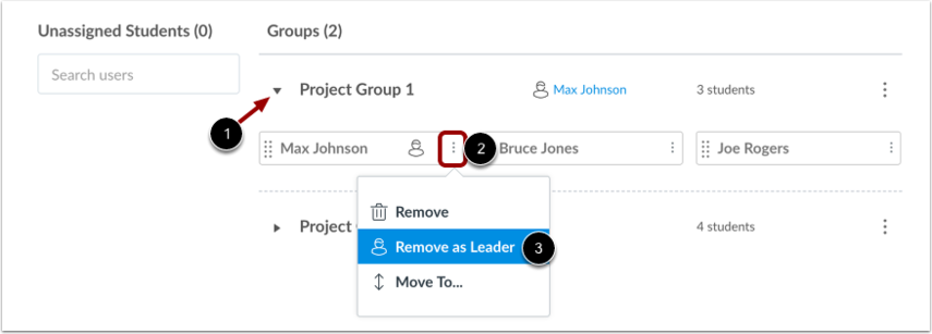 Remove Student Leader