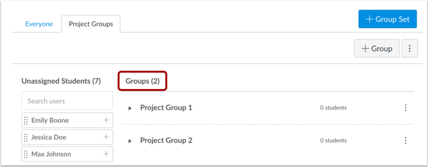 Confirm Groups
