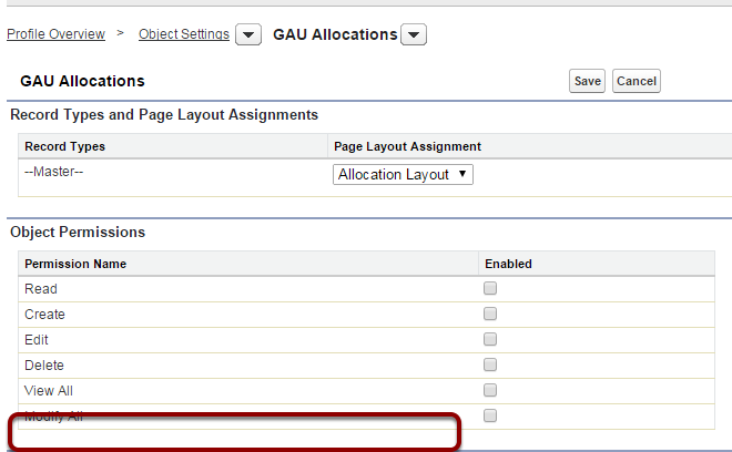 This is the NPSP GAU Allocations Object