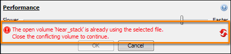 Cannot overwrite the same file during export